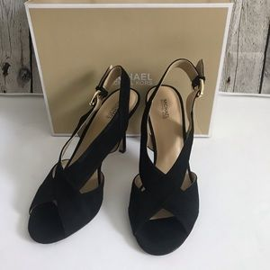 Michael Kors Becky Sandal Black Size 10M